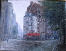 Robert Rafaelovich FALK - Painting - Paris at dawn.
