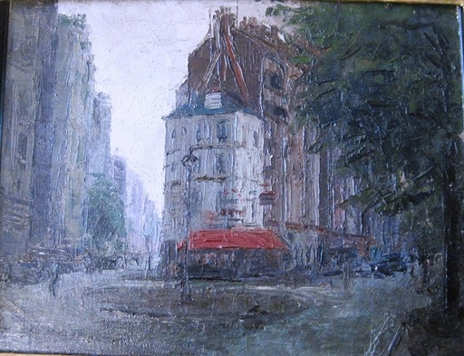Robert Rafaelovich FALK - Pintura - Paris at dawn.