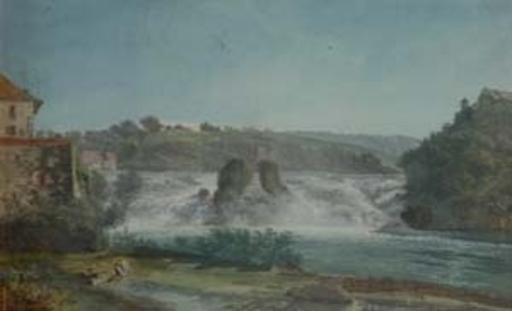 Dibujo Acuarela - Chutes du Rhin