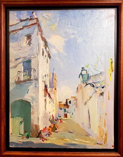 Joaquín MIR Y TRINXET - Painting - Calle de Villanova i la Geltrú