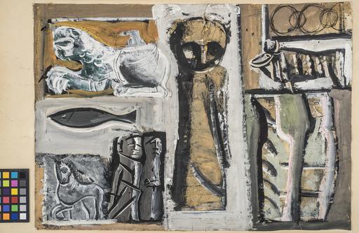 Mario SIRONI - Painting - Composizione con animali