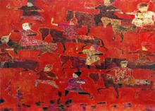 Reza DERAKSHANI - Peinture - Red Hunt