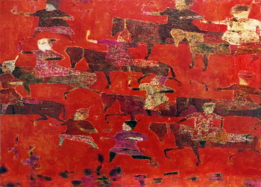 Reza DERAKSHANI - Painting - Red Hunt