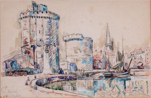 Paul SIGNAC - Dibujo Acuarela - La Rochelle