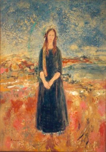 Jean COMMERE - Painting - LA BELLE ROUMAINE