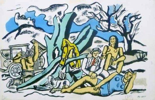 Fernand LÉGER - Print-Multiple - Partie de Campagne