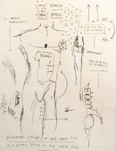 Jean-Michel BASQUIAT - Estampe-Multiple - Academic Study of a Male Figure