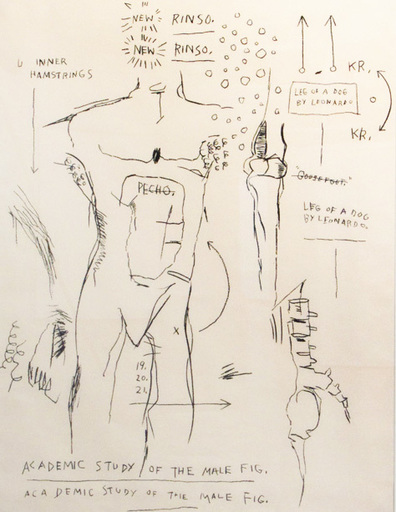 Jean-Michel BASQUIAT - Stampa Multiplo - Academic Study of a Male Figure