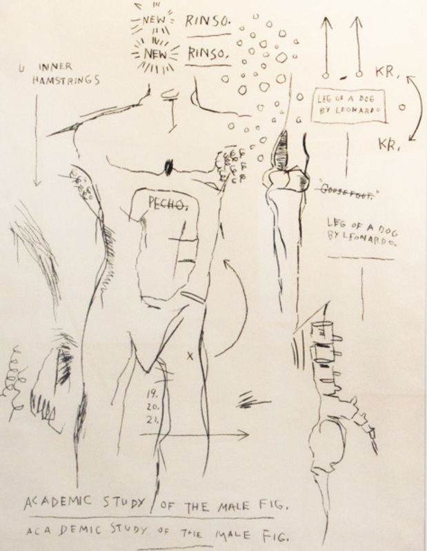 Jean-Michel BASQUIAT - Stampa-Multiplo - Academic Study of a Male Figure