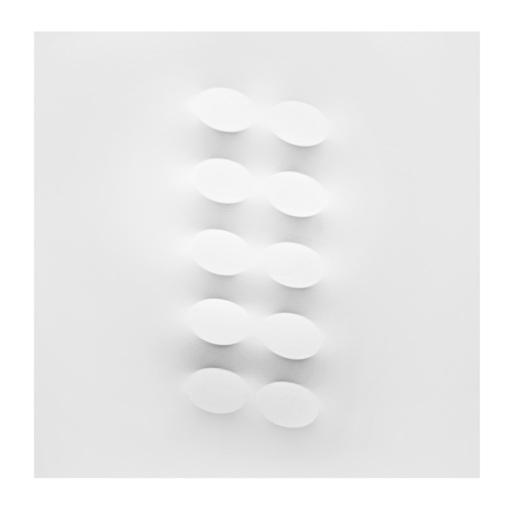 Turi SIMETI - Peinture - 10 ovali bianchi