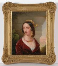 "Jean-Victor SCHNETZ - Painting - ""Roman beauty"" oil on canvas, 1820/25"