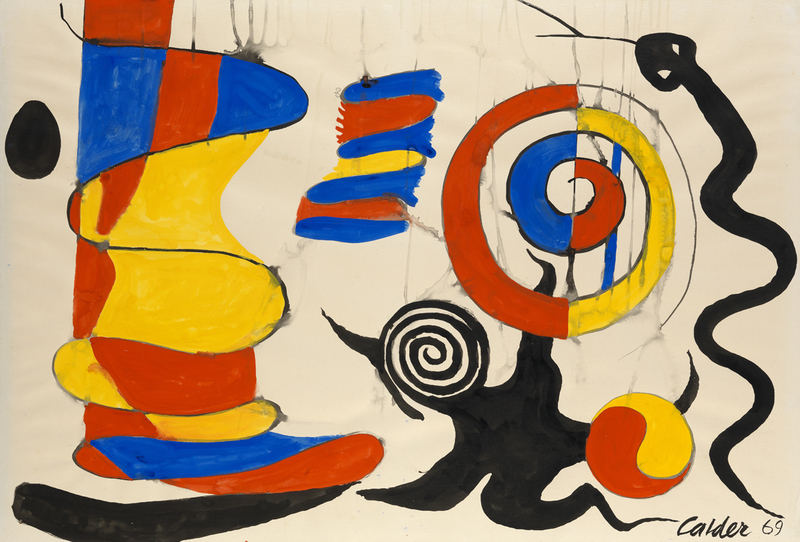 Alexander CALDER - Painting - The Yellow Shock Absorber