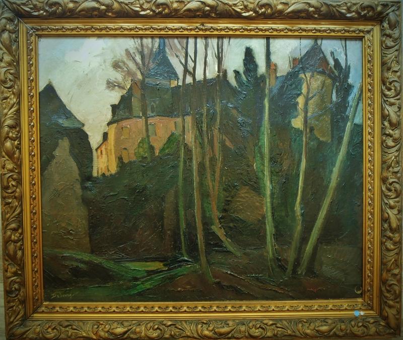 Édouard Bourgeois DEBOURG - Painting - Vue de Gargilesse circa 1925