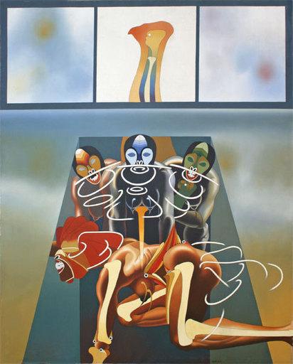 Heriberto COGOLLO - Painting - LE MONDE D'UN NOHOR