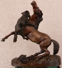 Pierre-Jules MÈNE - Escultura - Game wolf with horse
