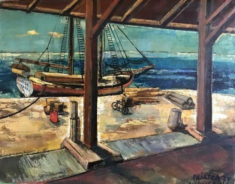 Médard II TYTGAT - Pintura - Port Raiatea (Frans-Polynesië)