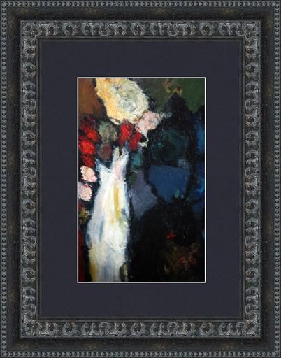Levan URUSHADZE - Peinture - Still life with white vase