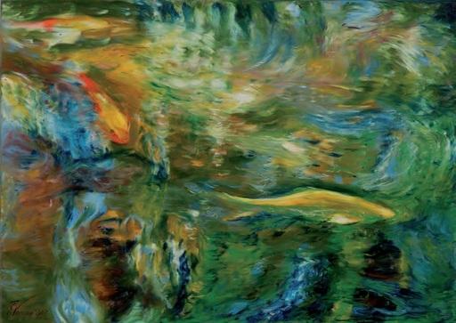 Ekaterina VORONA - Painting - Fish movement