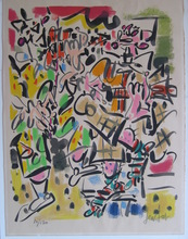 GEN PAUL - Estampe-Multiple - LITHOGRAPHIE 1960 SIGNÉE CRAYON NUM/130 HANDSIGNED L