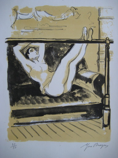 Yves BRAYER - Print-Multiple - LITHOGRAPHIE 1969 SIGNÉE CRAYON NUM/50 HANDSIGNED LITHOGRAPH