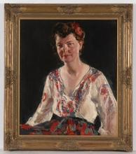 "George Elmer BROWNE - Peinture - ""Grand Ducchess Olga Alexandrovna?"", Oil Painting"