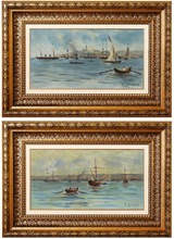 Fausto ZONARO - Painting - Constantinople / Golden Horne