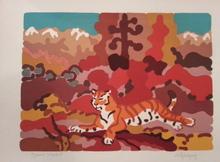 Charles LAPICQUE - Estampe-Multiple - Le Tigre