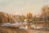 Jean Eugène Julien MASSÉ - Peinture - Le moulin à Chauvigny