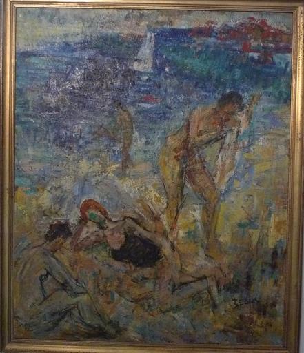 Richard BELLIAS - Pittura - A la plage
