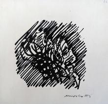 Ennio MORLOTTI - Dibujo Acuarela