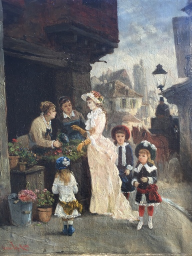 Henri VAN WYK - 绘画 - au marché