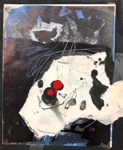 Antoni CLAVÉ - Disegno Acquarello - Guerrier avec yeux rouge