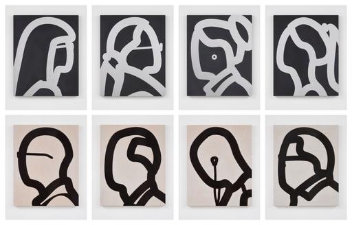 Julian OPIE - Grabado - Stone heads