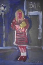 Eliano FANTUZZI - Painting - Senza titolo (Davanti al bar)