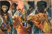 Edouard Léon Louis LEGRAND - Painting - Les Chameliers