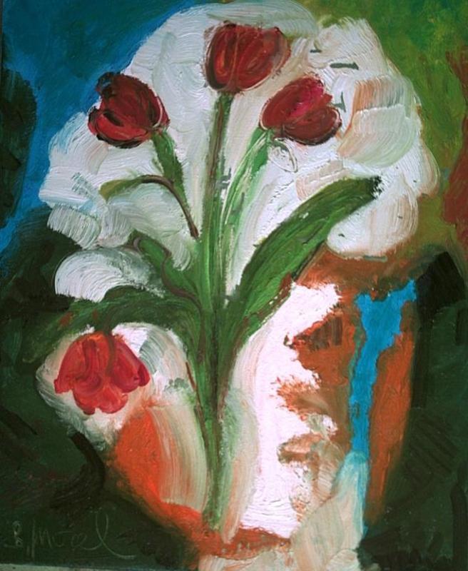 Bernard MOREL - Gemälde - TULIPES