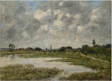 Eugène BOUDIN - Peinture - La Touques à Trouville