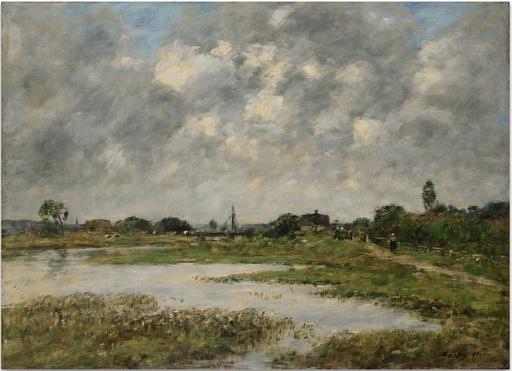 Eugène BOUDIN - Painting - La Touques à Trouville