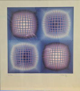 Victor VASARELY - Druckgrafik-Multiple - Composition cinétique