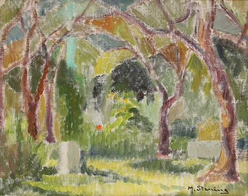 Marc STERLING - Painting - c.1935-40 The dreamlike realism of trees in a garden