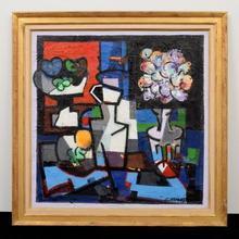 Claude VENARD - Peinture - Still Life with Vase and Flowers
