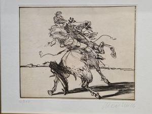 Claude WEISBUCH - Druckgrafik-Multiple - Le cavalier Romain