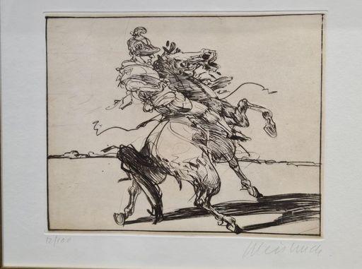 Claude WEISBUCH - Print-Multiple - Le cavalier Romain