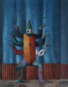 Brad HOLLAND - Painting - Juggler
