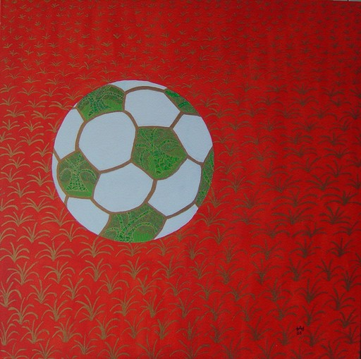 Annemarie HOFFMANN - Painting - Golden-Goal-Ball-Baume    (Cat N° 5846)