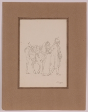 """Vincenz Georg KININGER - Dessin-Aquarelle - """"Napoleonic Dragoon"""" by Vincenz Georg Kininger, ca 1810"""