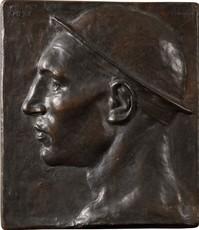 Constantin Emile MEUNIER - Sculpture-Volume - Tête de mineur