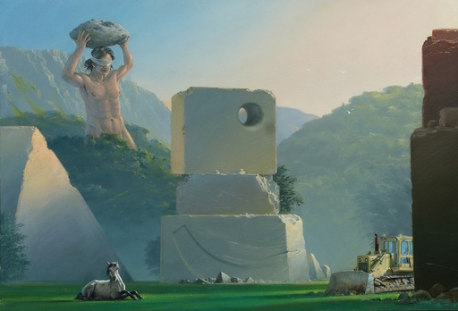 """Bruno SCHMELTZ - Gemälde - Paysage, """"Orion le géant"""""""