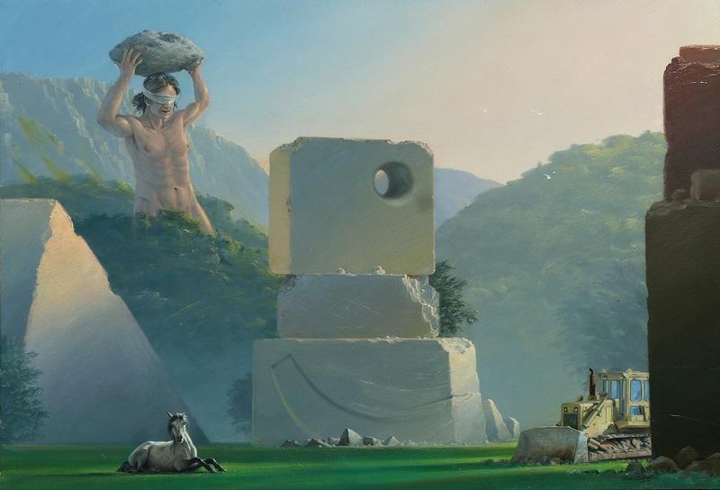 """Bruno SCHMELTZ - Pittura - Paysage, """"Orion le géant"""""""