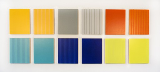 Milly RISTVEDT - Painting - Twelve Panels Thirty-Six Colours